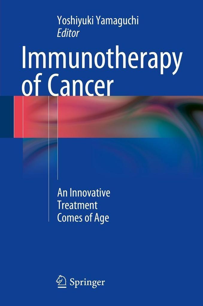Immunotherapy of Cancer als eBook Download von