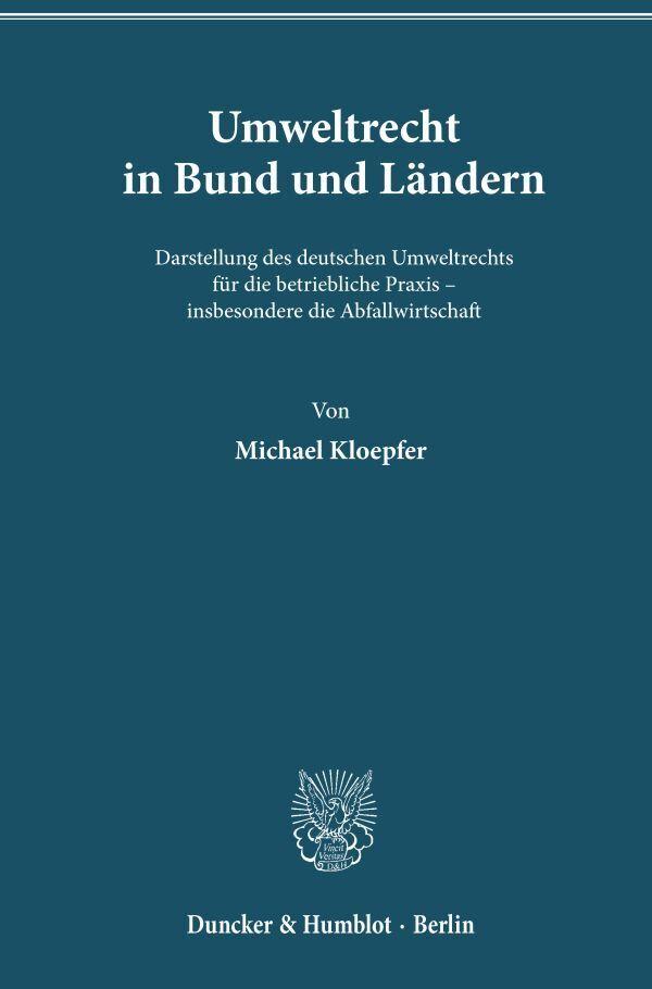 Umweltrecht in Bund und Ländern als Buch