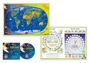 Kinderweltkarte. Das Jahr - Tag und Nacht. WELT0700
