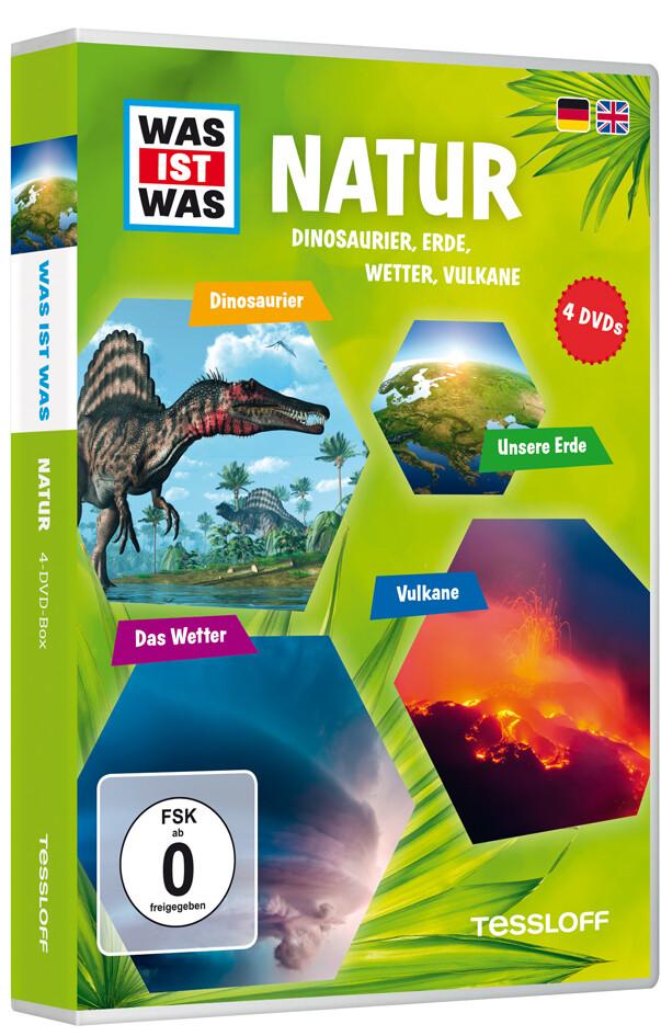 WAS IST WAS DVD-Box: Natur (Dinos, Erde, Wetter, Vulkane) als DVD
