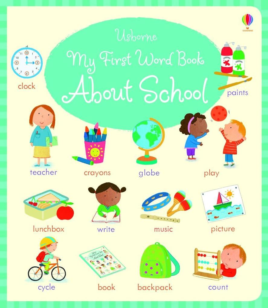 My First Word Book About School als Buch von Ho...