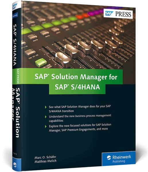 SAP Solution Manager for SAP S/4HANA als Buch v...