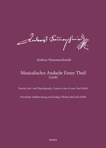 Andreas Hammerschmidt - Werkausgabe Band 1 als ...
