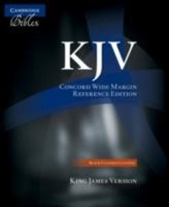 KJV Concord Wide Margin Reference Bible, Black Edge-Lined Goatskin Leather KJ766:XME als Buch