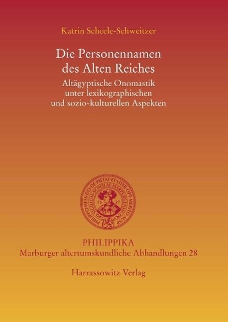 Die Personennamen des Alten Reiches als eBook D...