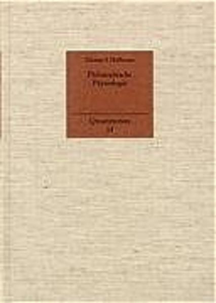 Philosophische Physiologie als Buch
