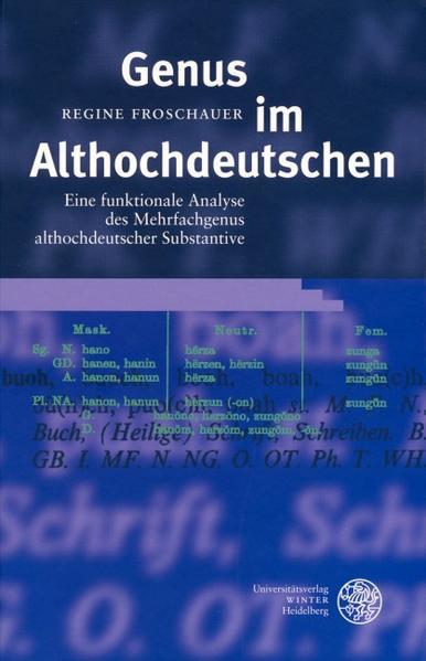 Genus im Althochdeutschen als Buch