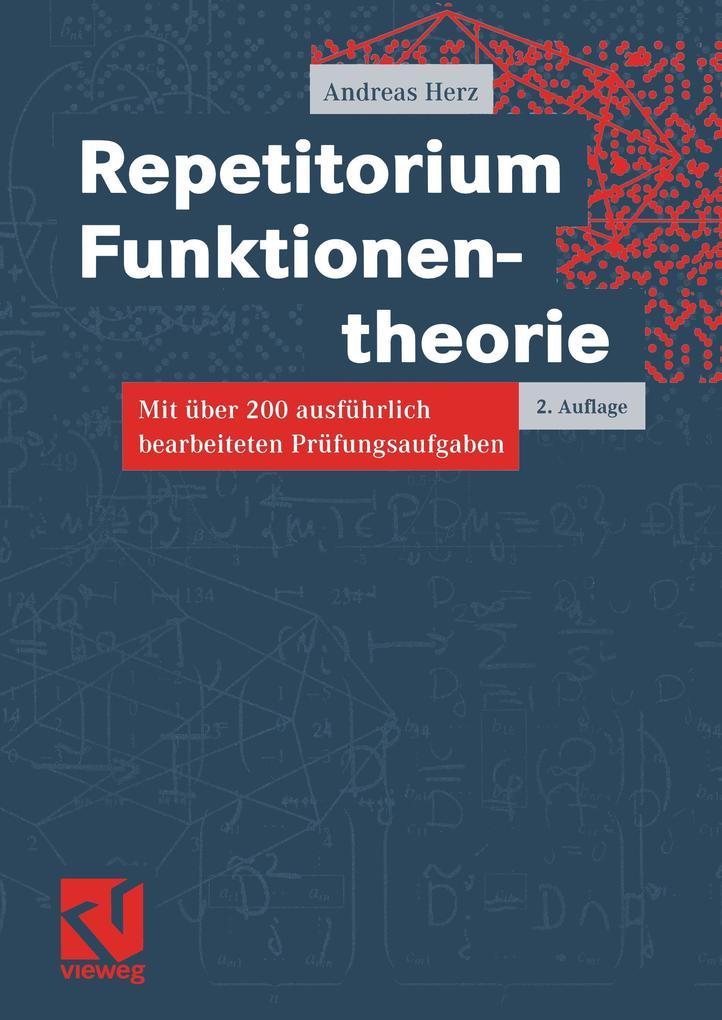 Repetitorium Funktionentheorie als Buch