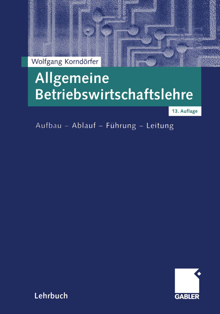 Allgemeine Betriebswirtschaftslehre als Buch
