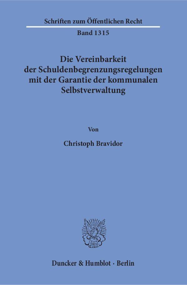 Die Vereinbarkeit der Schuldenbegrenzungsregelu...