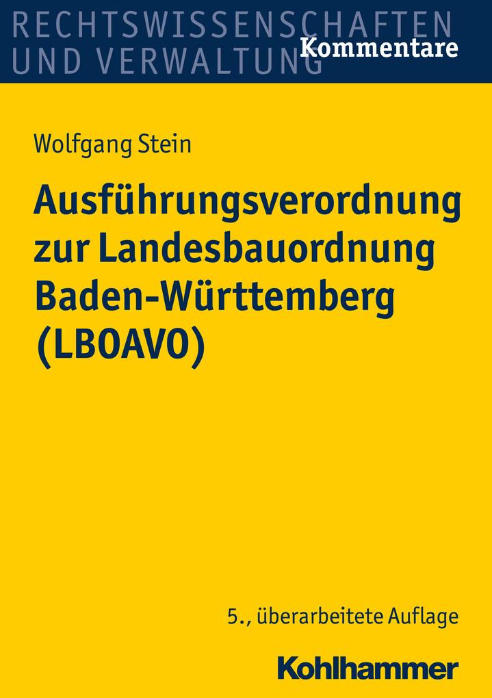 Ausführungsverordnung zur Landesbauordnung Bade...