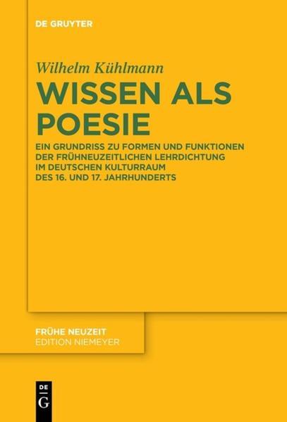 Wissen als Poesie als Buch von Wilhelm Kühlmann