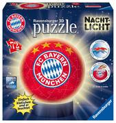 Nachtlicht FC Bayern München 3D Puzzle-Ball 72 Teile