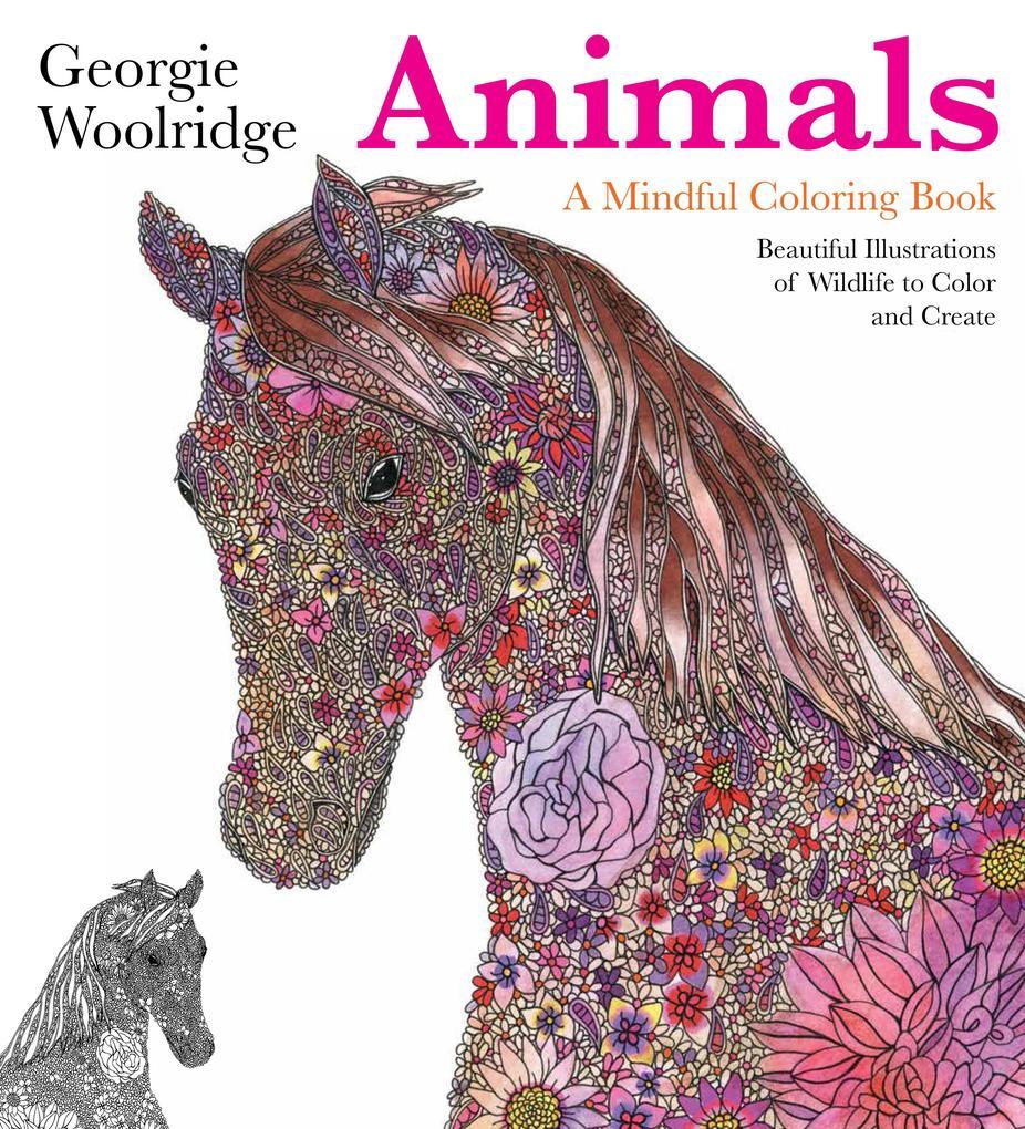 Animals: A Mindful Coloring Book als Taschenbuc...