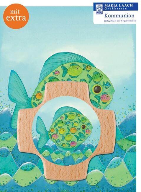 Kreuz & Grußkarte Fisch und Fische