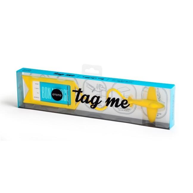 Kofferanhänger Tag Me yellow