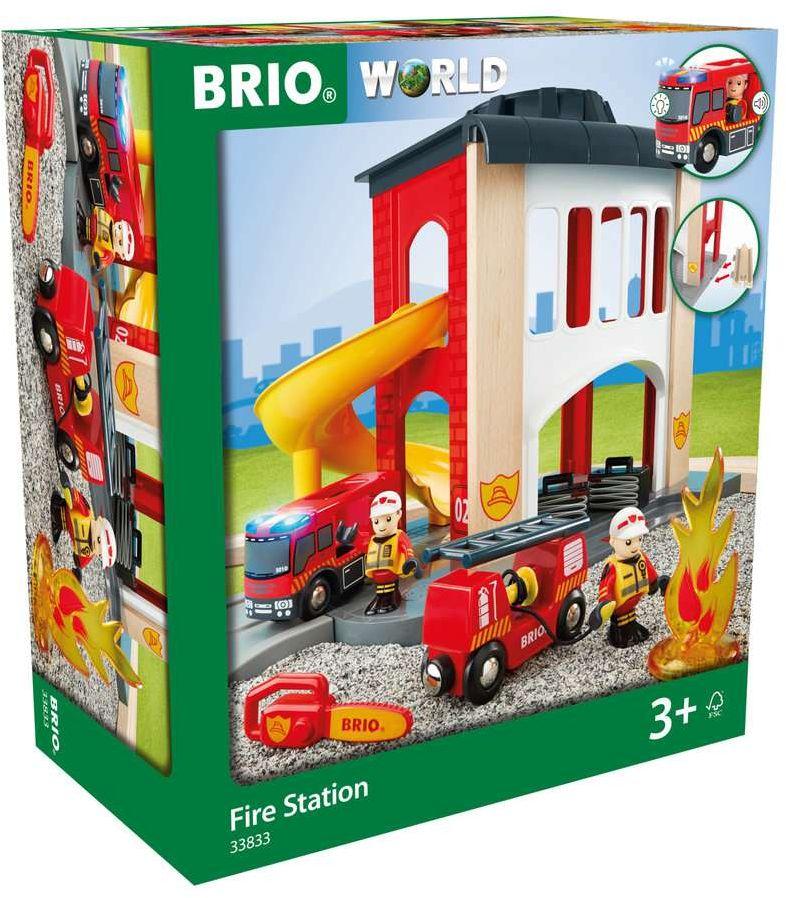 BRIO Bahn - Große Feuerwehr-Station mit Einsatz...