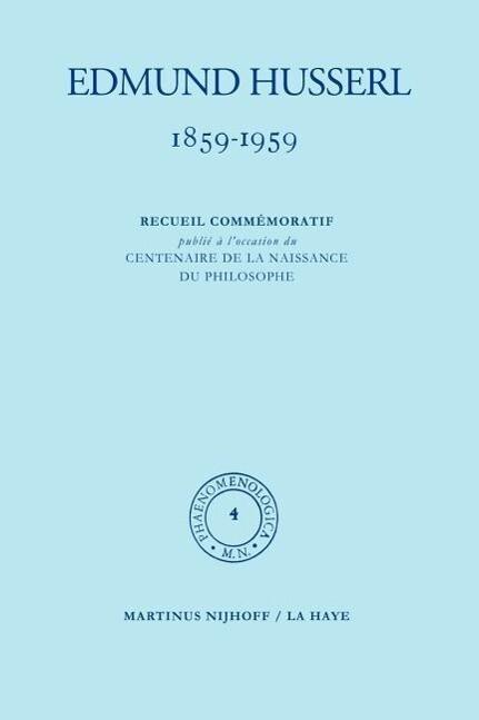1859-1959. Recueil commémoratif publié á l'occasion du centenaire de la naissance du philosophe als Buch