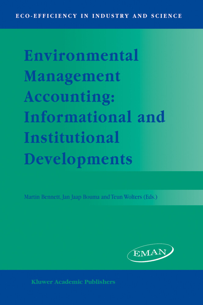 Environmental Management Accounting: Informational and Institutional Developments als Buch