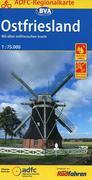 ADFC-Regionalkarte Ostfriesland, 1:75.000
