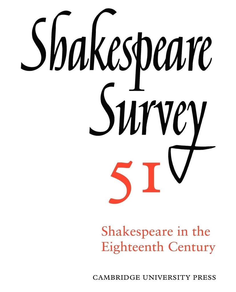 Shakespeare Survey als Buch