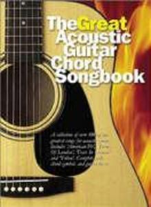 The Great Acoustic Guitar Chord Songbook Lyrics & Chords Book als Buch