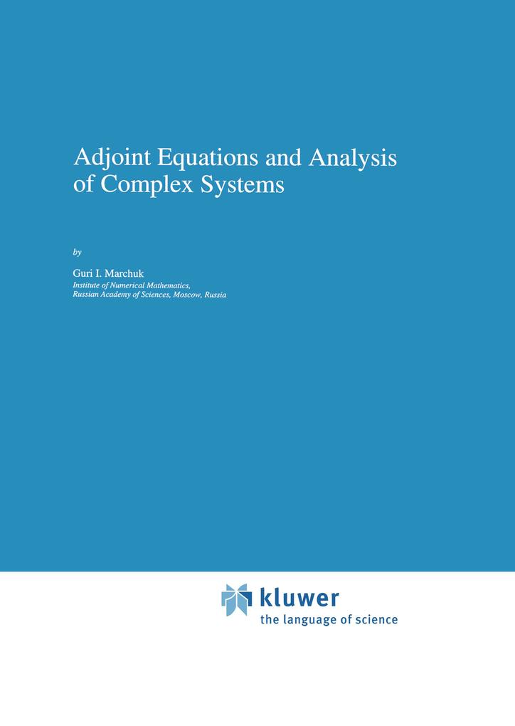 Adjoint Equations and Analysis of Complex Systems als Buch