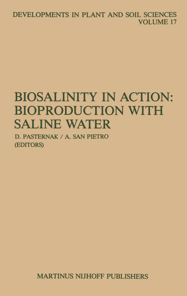 Biosalinity in Action: Bioproduction with Saline Water als Buch