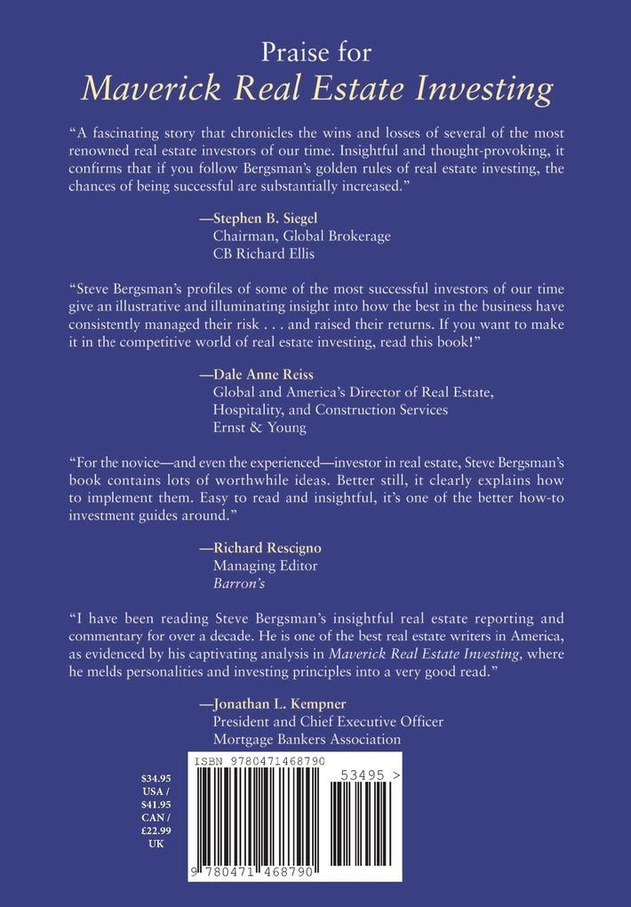 Maverick Real Estate Investing: The Art of Buying and Selling Properties Like Trump, Zell, Simon, and the World's Greatest Land Owners als Buch