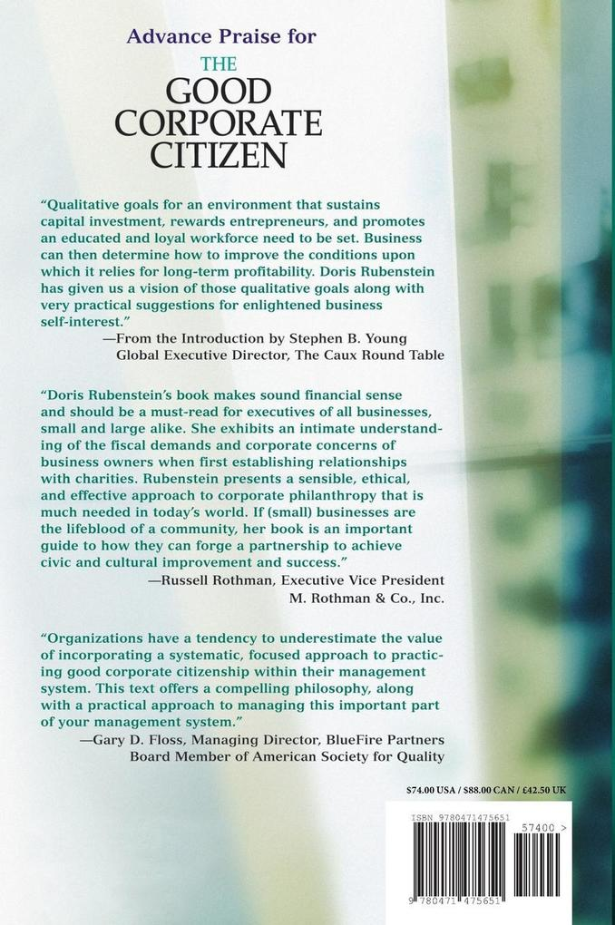 The Good Corporate Citizen: A Practical Guide als Buch