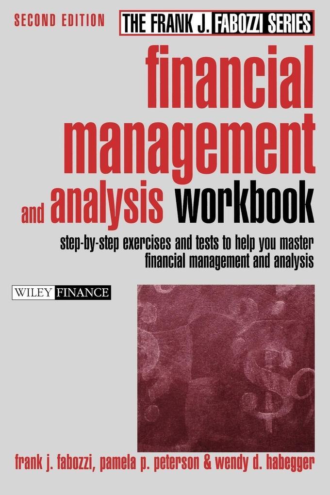 Financial Management and Analysis Workbook als Taschenbuch