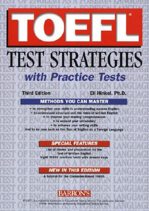 TOEFL Test Strategies with Practice Tests als Buch
