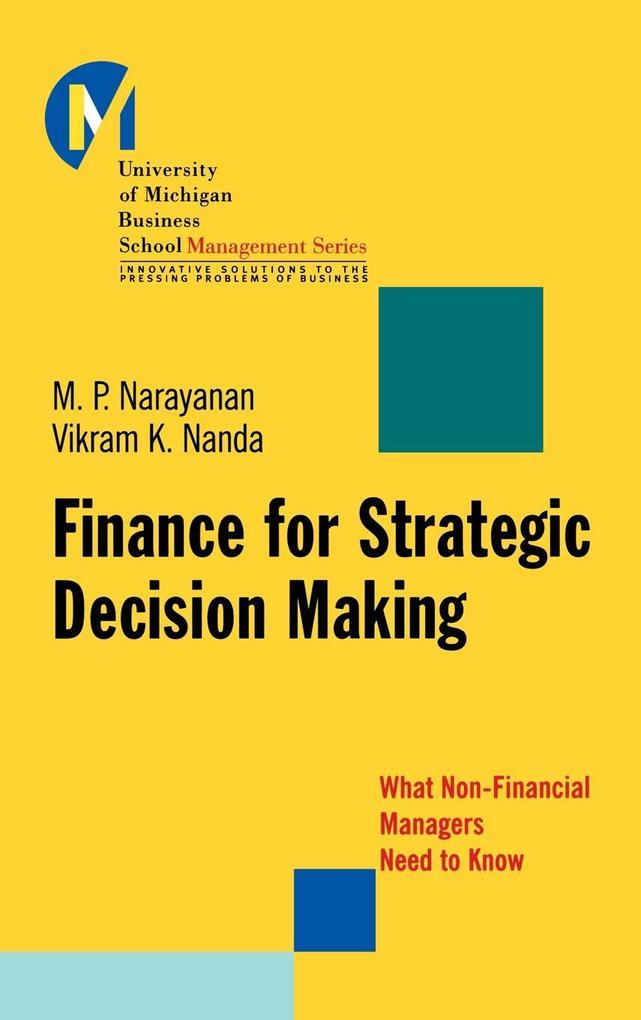 Finance for Strategic Decision-Making als Buch
