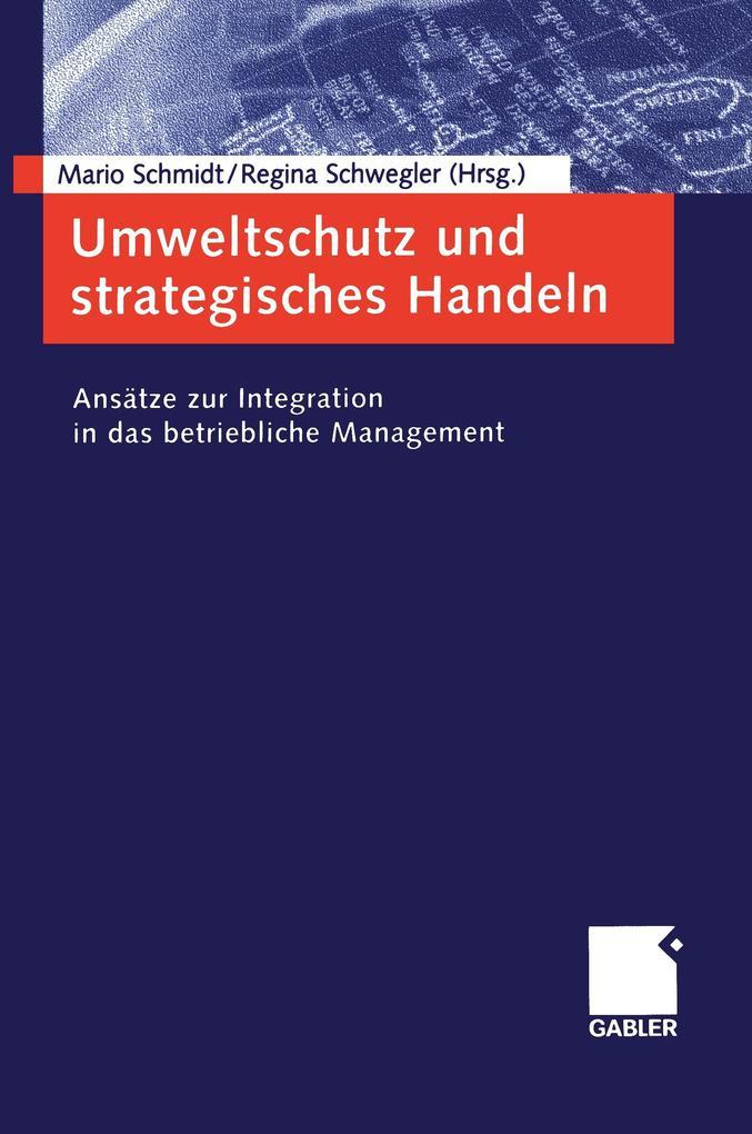 Umweltschutz und strategisches Handeln als Buch