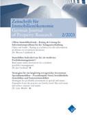 Zeitschrift für Immobilienökonomie 2/2003 als Buch