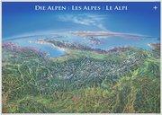 Panoramakarte Alpen mit Leisten