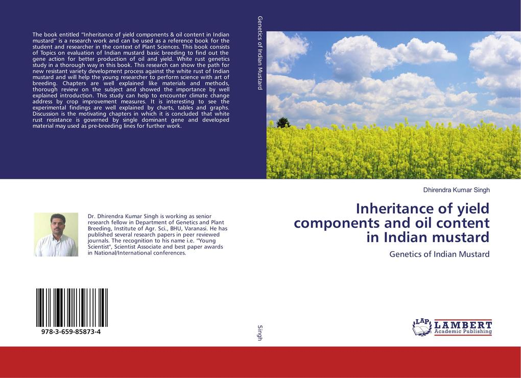 Inheritance of yield components and oil content...