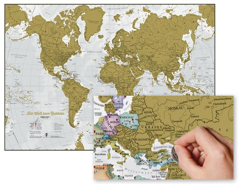 Die Welt zum Rubbeln. Scratch Map Deutsch als Buch