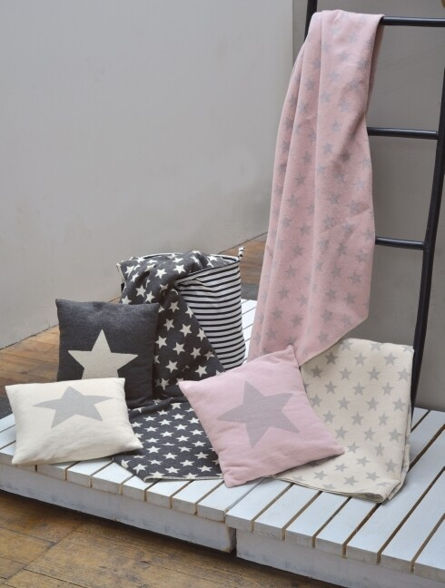 Decke Sterne rosa