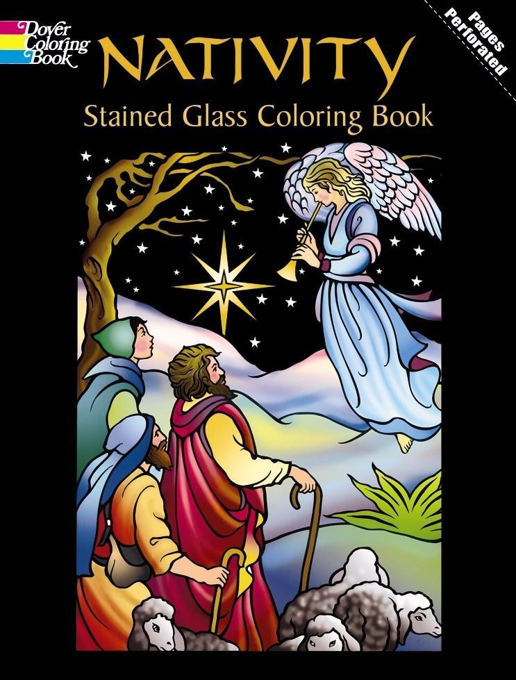 Nativity Stained Glass Coloring Book als Taschenbuch