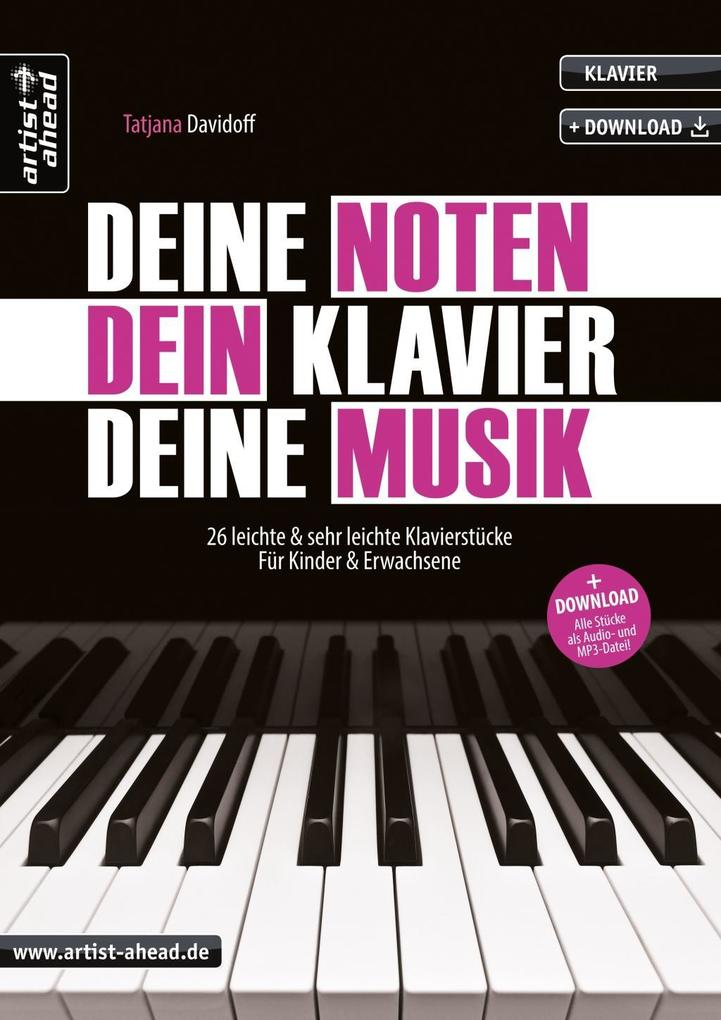Deine Noten, Dein Klavier, Deine Musik als Buch...