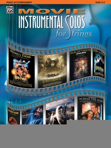 Movie Instrumental Solos for Strings: Piano Acc. als Taschenbuch