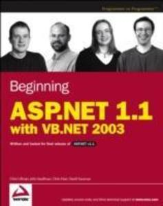 Beginning ASP.NET 1.1 with VB.NET 2003 als Buch