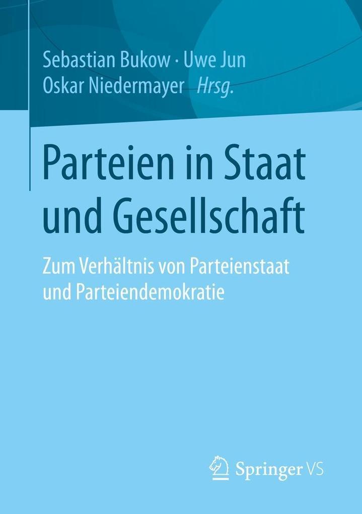 Parteien in Staat und Gesellschaft als eBook Do...