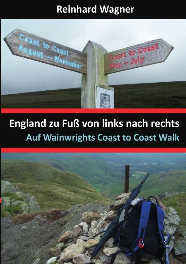 England zu Fuß von links nach rechts als Buch