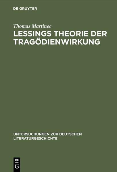 Lessings Theorie der Tragödienwirkung als Buch