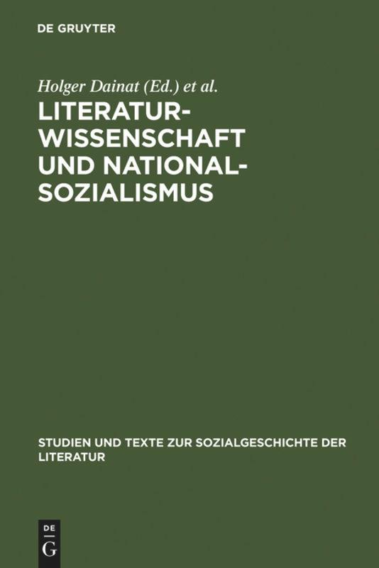 Literaturwissenschaft und Nationalsozialismus als Buch
