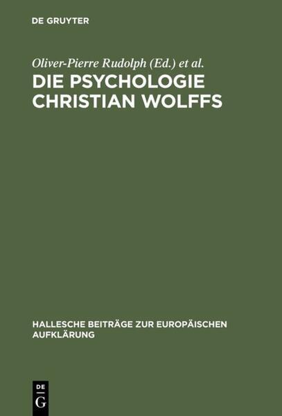 Die Psychologie Christian Wolffs als Buch