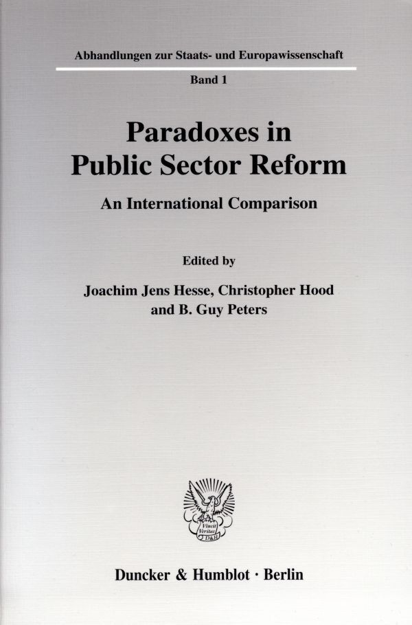 Paradoxes in Public Sector Reform als Buch