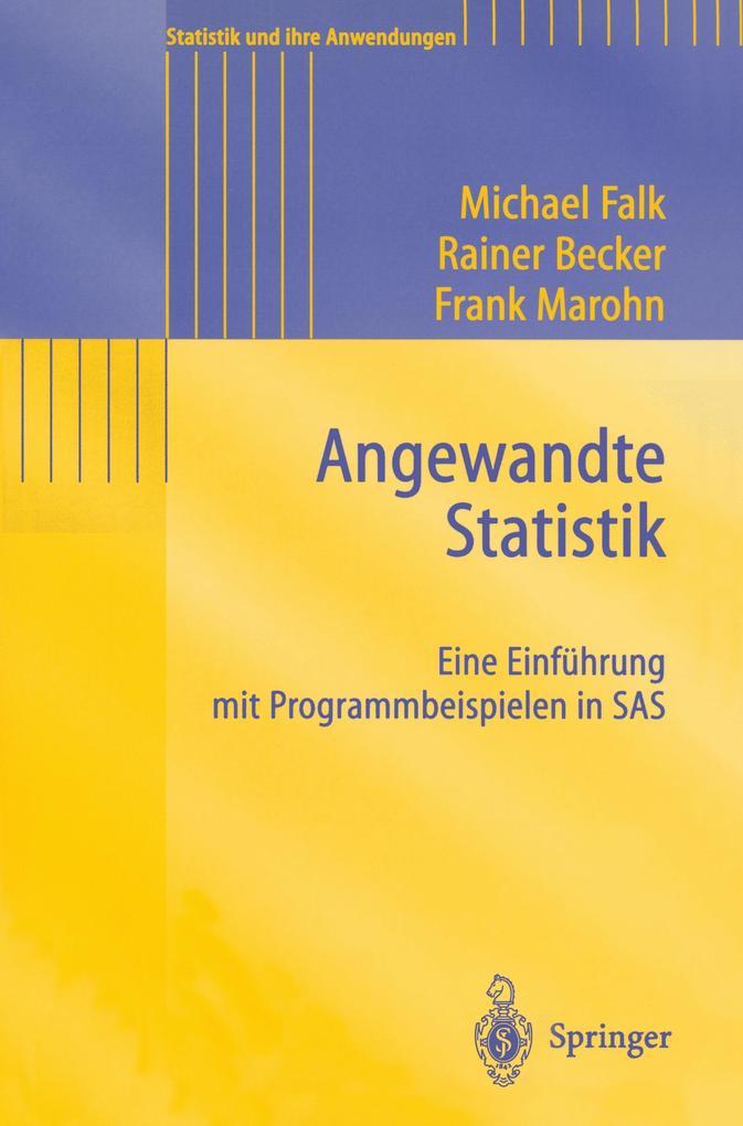 Angewandte Statistik als Buch
